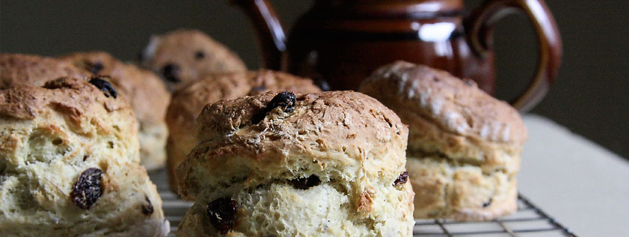 Freshly baked homemade scones & muffins